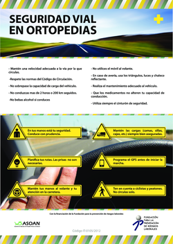 Thumb cartel. seguridad vial en ortopedias